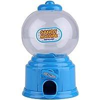 Mini máquina de golosinas de plástico Burbuja Dispensador Gumball Moneda Banco Niños Juguete para Gumballs Cacahuetes Caramelos y bocadillos pequeños