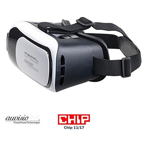 auvisio VR Brillen: Virtual-Reality-Brille VRB58.3D für Smartphones, 3D-Justierung (Virtuelle Brille)
