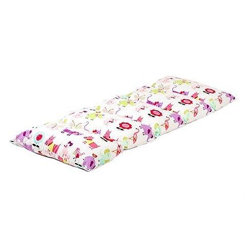 Children's Cute Pets Print Folding Pillow Sleepover Nap Mat with Ties