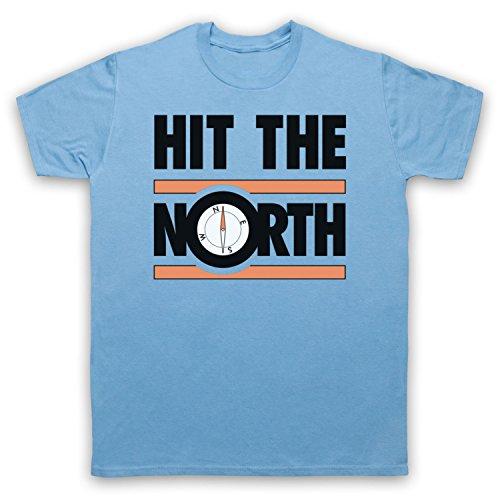 Inspiriert durch Fall Hit The North Unofficial Herren T-Shirt Hellblau