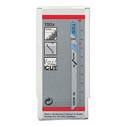 Bosch T 127 D Jigsaw Blade Special for Aluminium - 100 Piece Pack