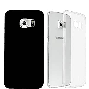 Johra Transparent Soft Back Cover & Hard Back Black Cover Combo Set For Samsung Galaxy S7 Edge