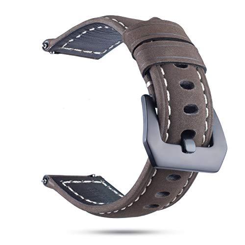 Battnot Uhrenarmbänder für Samsung Gear S3 22MM Smart Watch Leder-Ersatzuhr-Handgelenkband Einstellbarer Uhrenarmband Handschlaufe für Damen Herren Ersatzband Watch Band Replacement Wriststraps