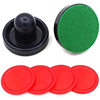 STOBOK 8pcs Air Hockey Pucks y Pushers Goal Handles Paddle Reemplazo para mesas de Juego Equipos Accesorios (Azul Oscuro)