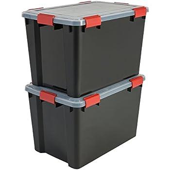 IRIS, 3er-Set Aufbewahrungsboxen / Kisten mit Deckel