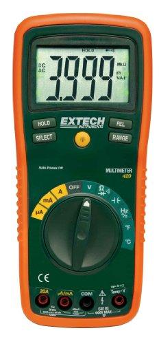 Extech Multimeter (Extech Professionelles Multimeter mit 11 Funktionen, 1 Stück, EX420)