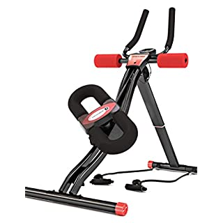 Sportstech Test Winner BT300 Professional Abdominal Trainer With Swingable Knee Support For Lateral Abs, S-shape Rail, 25 Height Regulations + Resistance Bands Incl – Ab Workout Toning Sixpack Shaper
