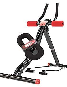 Sportstech BT300 Profi Bauchtrainer mit schwenkbarer Knieauflage für Seitliche Bauchmuskeln, S-Form Schiene, 25 Einstellmöglichkeiten + Widerstandsbänder inkl. AB Shape Trainer für Sixpack