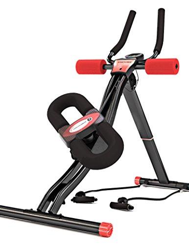 Sportstech BT300 Profi Bauchtrainer mit schwenkbarer Knieauflage für Seitliche Bauchmuskeln, S-Form Schiene, 25 Einstellmöglichkeiten + Widerstandsbänder inkl. AB Shape Trainer für Sixpack (BT300)