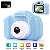 hyleton Kids Camera Rechargeable Kids Digital Camera 2.0 Inch IPS Screen 5MP 1080P