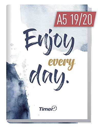 A5 Kalender 2019/2020 [Enjoy every Day] Terminplaner 18 Monate: Juli 2019 bis Dez. 2020 | Wochenkalender, Organizer, Terminkalender mit Wochenplaner - Top organisiert durchs Jahr! ()