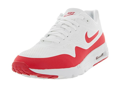 Nike Wmns Air Max 1 Ultra Moire, Chaussures de Sport Femme Blanc Cassé - Blanco (Summit White / Unvrsty Red-White)