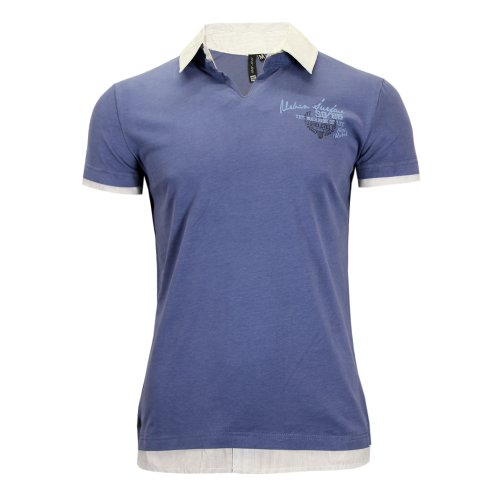 Herren Poloshirt Slim Fit Blue