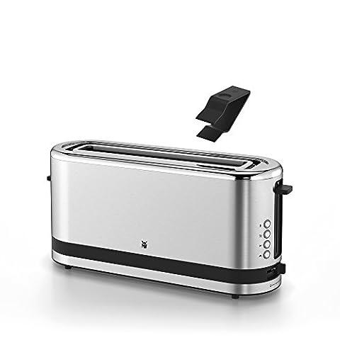 WMF KÜCHENminis Langschlitz-Toaster, integrierter Brötchenwärmer, cromargan matt/silber