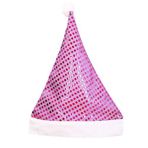 Erwachsene Für Kostüm Christmas Party - Timlatte Weihnachtsmann Glitzernde Pailletten Hüte Tuch Caps Stirn- Schmuck Christmas Party-Kostüm-Erwachsene
