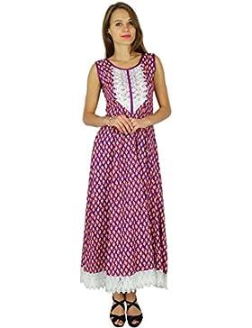 Phagun India étnicas Diseñador Kurti algodón Bollywood Kurta mujeres vestido de la túnica