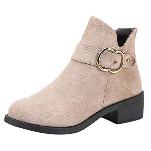 ➤Refill➤Damen Classic Stiefelette in vielen Farben und Mustern, Chelsea Boots mit Blockabsatz Profilsohle Winterschuhe Winterstiefel Warm Gefütterte Outdoor Boots