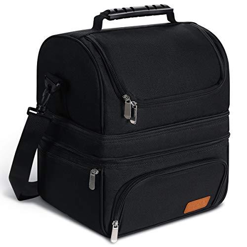 Sable Bolsa Térmica 22L con 3 Compartimentos Espaciosos en Calientes y Fríos, Lunch Bag Aislamiento y Impermeable con FDA