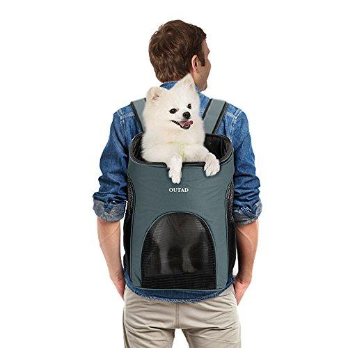 Zaino pieghevole per cani gatti zaino cane gatto trasportino taglia piccola media fino a 6.5kg airline-approved treno o auto morbido impermeabile traspirante