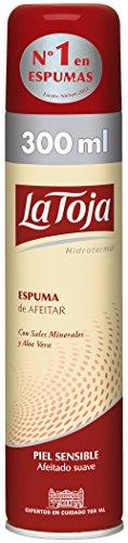 La Toja Espuma de Afeitar con Sales Minerales y Aloe Vera para Piel Sensible - 300 ml