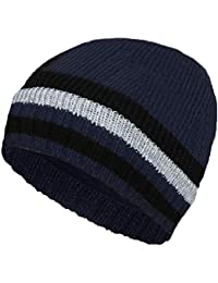 Rollmütze Thinsulate Navy Strickmütze Warme Herren Wintermütze Fleecefutter