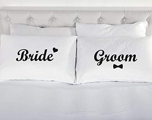 époux épouse Fantaisie Housse d'oreiller paire de taies d'oreilles Cadeau Mariage Cadeau Romantique literie