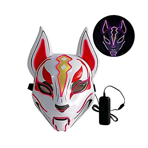 Ohyoulive Halloween LED Lighting Mask Scary Glowing Animal Festival Party Cosplay Prop Halloween Glowing Mask New Glowing Fox Mask Christmas Ball Led Mask New 2019 (Light And 2019 Halloween-power)