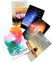 Positive affirmations cards meditation mindfulness cards 25 pocket-size Lotus Licht designed card deck gift fo