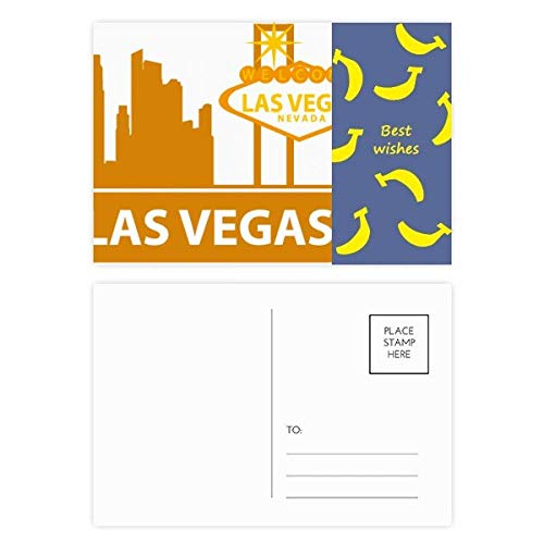 Welcome To Las Vegas Nevada America Banana Postkarten-Set, 20 Stück