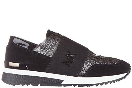 michael-kors-11121923-gun-blk-sneaker-cuir-tissus-technique-lurex-stretch