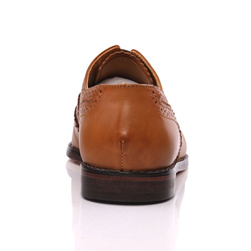 Unze Cuir espagnol Chaussures à lacets habillées Hommes de Florman   Brun  ... f92a502fe38