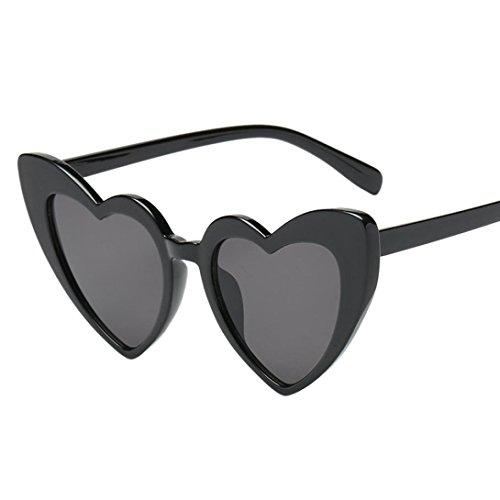 Morwind occhiali da sole, occhiali da sole a forma di cuore occhiali da sole integrati occhiali da sole donna vintage retro eyewear integrato uv caramelle colorate bicchieri