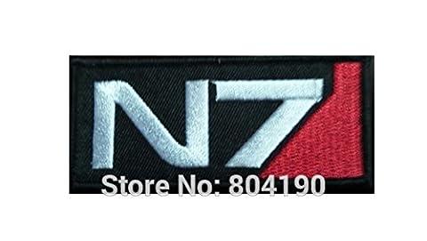 coolpart Mass Effect Cosplay N7Logo Kostüm gesticktes Emblem Punk Rockabilly Aufnäher Nähen auf/Eisen auf Patch perfekt Patches