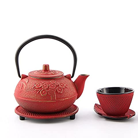 TJMM Cast iron pots pig iron pot imitation old iron pot set Japanese boiled teapot in southern Japan old iron pot , as figure