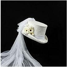 Sunhat-TX Sombrero - 4 tamaño Blanco Victoriano gótico Steampunk Boda  Sombrero de Copa de 43c0e70eb93