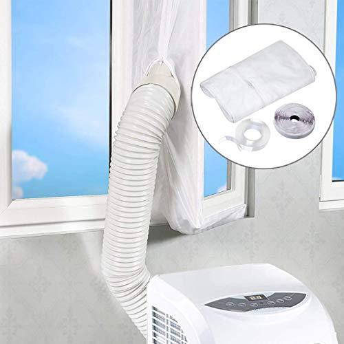 Outstone Fensterabdichtung Für Mobile Klimageräte und Abluft-Wäschetrockner, Passend zu Jedem Klimagerät und (White)