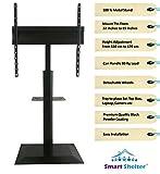 Smart Shelter Metal LCD/LED/Plasma TV Height Adjustable Floor Stand/Pedestal TV Mount Trolley St