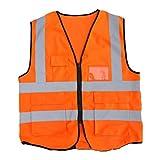 EisEyen Helle Fluoreszierende Farbe Warnschutzweste mit Reflektierenden Streifen Reißverschluss Reflektierende Weste