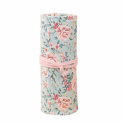 Pencil Floral Case Handmade,Fami 36 trous Rouleau Crayon Sacs