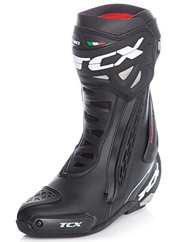 TCX rt-race CIRCUITO SPORT MOTOCICLETTA Stivali - Bianco/Rosso/Giallo - Nero, EU 45