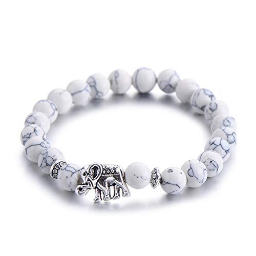 WODESHENGRI Armbänder,Klassischen Charm Armband Für Frauen Schicke Farbe Silber Perlen Armbänder Mode Männer Schmuck