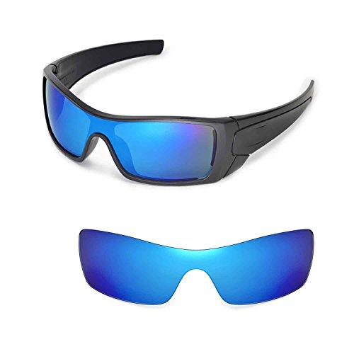 Walleva Ersatzgläser für Oakley Batwolf Sonnenbrille - Mehrfache Optionen (Eisblau beschichtet - polarisiert)