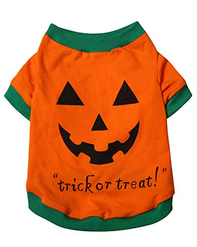 en Puppy Kürbis Kostüm T-Shirt für Kleine Hunde Katzen, X-Large(13.2lb-16.1lb), Orange ()