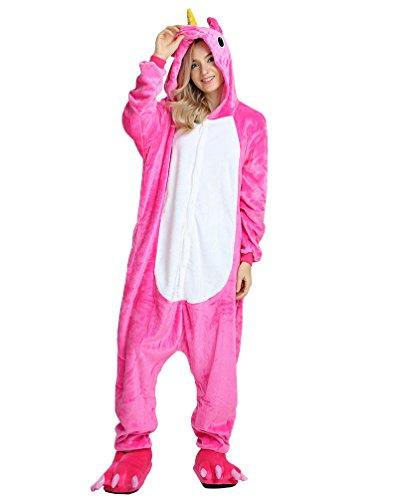 en Unisex Kigurumi Kostüm Anime Tier Cosplay Hoodie Onesie Erwachsene Pyjamas Karikatur Halloween Nachtwäsche Drei (Anime-kostüme Für Frauen)