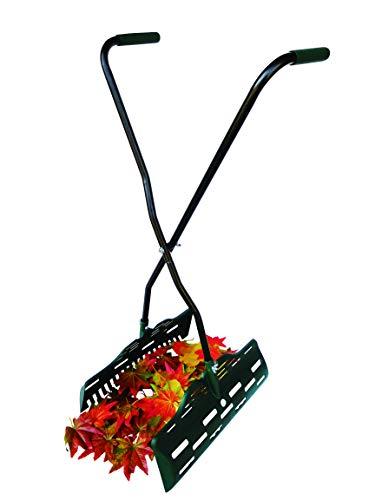 UPP® Laubgreifer ergonomisch grün - ideal ALS Laubsammler, Laubschaufel und Greifer für Grasschnitt