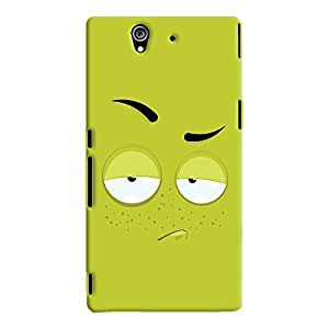 ColourCrust Sony Xperia Z Mobile Phone Back Cover With Smiley Expression - Durable Matte Finish Hard Plastic Slim Case