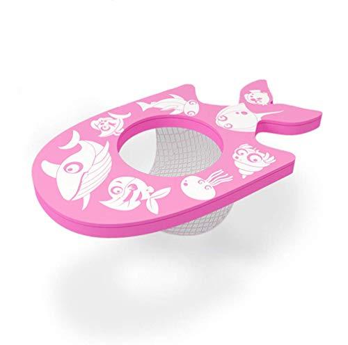 HIDENFAFR Kinder Kleinkinder Kleinkinder Schwimmen Anfänger Training 1-3 Jahre Pool Float Foam Sicherheitssitz mit Fischnetz Schwimmbecken Spielzeug Zubehör,Pink