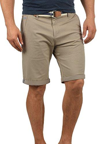 !Solid Monty Herren Chino Shorts Bermuda Kurze Hose Mit Gürtel Aus Stretch-Material Regular-Fit, Größe:L, Farbe:Dune (5409) -