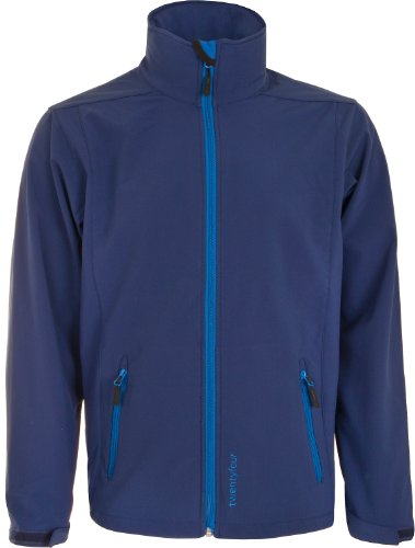 Twentyfour FM Veste Softshell Homme - Softshell veste légère, design fonctionnel Bleu - marine