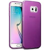 Samsung S6 Edge Case, Terrapin TPU Schutzhülle Tasche Case Cover für Samsung Galaxy S6 Edge Hülle Transparent Lila